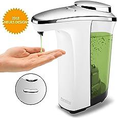 Peralng Seifenspender Automatischer, 500ml Elektrischer Seifenspender mit Sensor, Wasserdichter Basis, Flüssigseifenspender für Küche und Badezimmer Desinfektionsmittel Shampoo Emulsion Flüssigseife