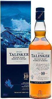 Talisker 10 Jahre Single Malt Scotch Whisky – Weicher, torfiger und rauchiger Whisky aus dem Norden Schottlands – In maritime