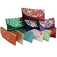 GoldGiftIdeas Vintage Floral Embroidered Shagun Potli Purse for Ladies, Potli Pouches, Potli Bags for Return Gifts…