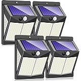 Claoner 【140 LED/3 Modes】 Solar Lights Outdoor, Wireless Solar Motion Sensor Security Light Solar Powered Lights [2000mAh] So
