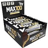 NPN MAX 100 Protein & Carb bar | Barretta proteica per lo sport, gusto premium | 9x100g Crunch di mandorle caramellate