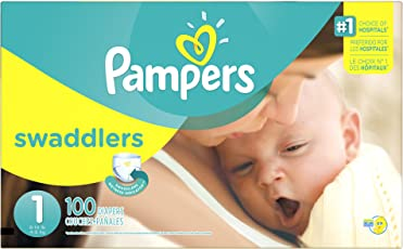 Pampers Swaddlers Newborn Diapers, Size 1, 100 Count