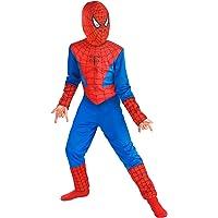 Fancydresswale Fancy Dress Spiderman Costume For Kids (Large (6-8 Yrs),Blue :Red