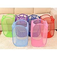 Topker Panier Pliable de Stockage de Panier Holding Basket,Clothes Basket,Clothes Folding de Lavage de Maille Pliable…