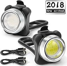 OUSPT Fahrradlicht LED Set,Wasserdicht USB Fahrradlichter,Kinder Fahrrad Rücklicht
