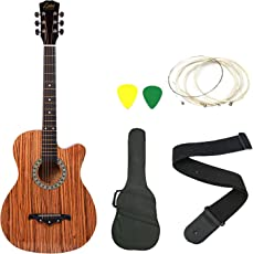 Zabel ZBTR08 Acoustic Guitar With Truss Rod Combo With Bag, Strap, One Pack Strings And 3 Picks
