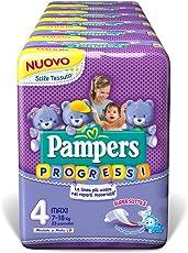 Pampers Progressi Maxi, 138 Pannolini, Taglia 4 (7-18 kg)