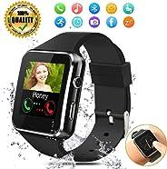 Orologi Intelligenti,Bluetooth Smartwatch,Sport Smart Orologio con Slot per scheda SIM TF Orologio Intelligente per Donna Uo