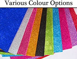 Shop Buzz Pack of 10 Premium Quality EVA Foam Glitter Sheets of Assorted Colors A4 Size - for Arts & Crafts, Scrapbooking, Paper Decorations