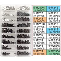 Akuoly Screw Set for Universal Laptops and Hard Disk M.2 SSD, M2 M3 M2.5, 355 pieces
