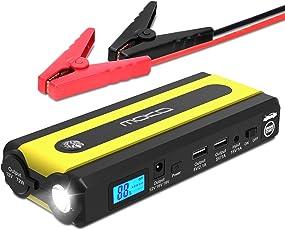 MoKo 500A Spitzenstrom 13600mAh Autostartgerät Power Bank, Tragbare Jump Starter Kfz Starthilfe Autostarhilfe Energiestation mit Kompaß, USB Anschluss und LED Taschenlampe für 12V Autos