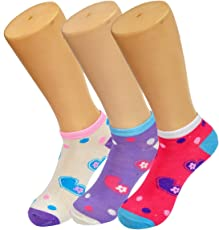 Crux&hunter cotton ankle girls summer socks pack of 3(11-15 years)