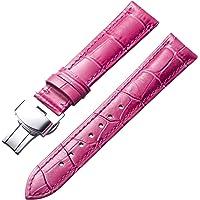 Cinturino in Vera Pelle di Ricambio per Uomo Donna con Fibbia a Farfalla (12mm,14mm,16mm,17mm,18mm,19mm,20mm,21mm,22mm…