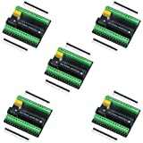 keywish Tarjeta de Adaptador de expansión de Terminal Nano para Arduino Nano V3.0 AVR ATMEGA328P con Interfaz de expansión NR