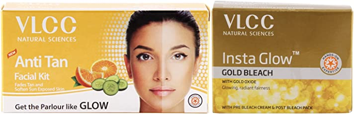 VLCC Anti Tan Facial Kit and Insta Glow Bleach Combo