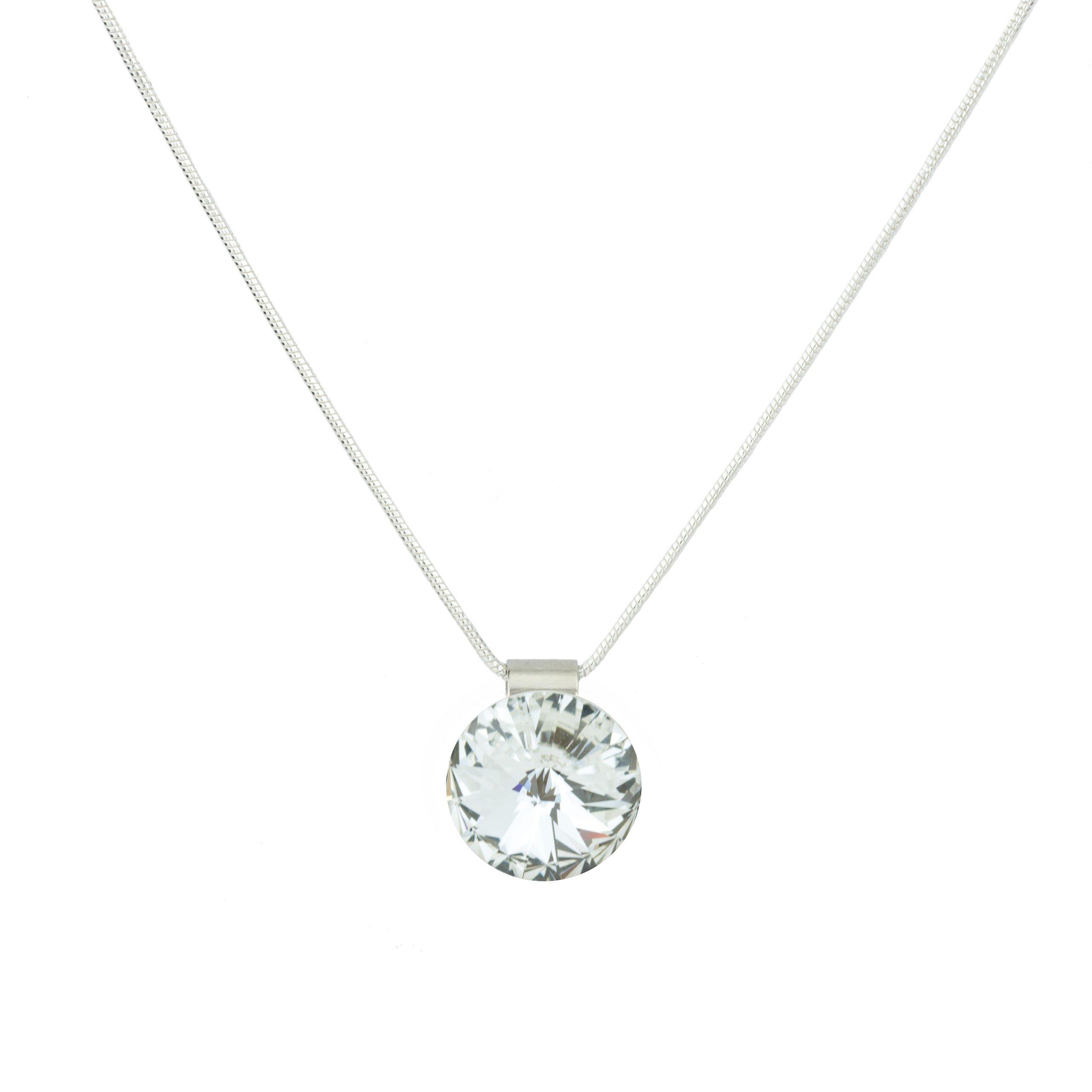 Eve S jewelry–Collana da donna con ciondolo Swarovski Elements Crystal placcati argento rodiato cr