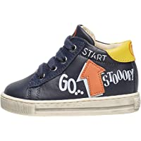Falcotto HOGWA-Sneaker in Vitello con Patch Freccia e Stampe Blu 23
