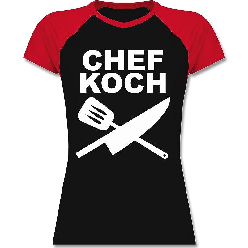 Küche - Chefkoch Messer - zweifarbiges Baseballshirt / Raglan T-Shirt für  Damen: Shirtracer: Amazon.de: Bekleidung