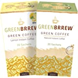 Greenbrrew Instant Green Coffee for Weight Loss - 60g, 20 Sachets Each (Natural + Lemon) Flavor