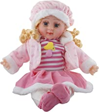 Sky Zone Soft Girl Singing Songs Baby Doll Toy, Medium (Pink)