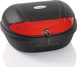 TRESKO® XXL Motorradkoffer/Helmkoffer, passend für zwei Helme, 48 Liter Füllvolumen, Topcase universal, für Roller, Motorräder, Mofas und Quads