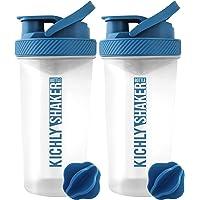 KICHLY Shaker proteines avec boule mélangeuse (830ml/28Oz) Couvercle à vis étanche avec capuchon à rabat sécurisé…