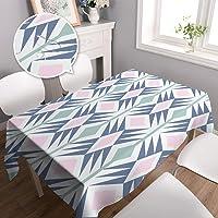 Dreaming Casa Nappe Imperméable Table Rectangulaire Résistant Nappe Anti-Taches Enduite ImpriméAloèsTable à Manger…
