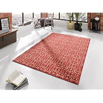 bavaria home style collection tapis rougebeigemotif floraltapis contemporain - Tapis Contemporain