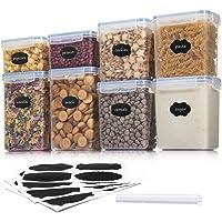 Aitsite Boîte de Conservation Alimentaire 8 Pièces, Boîte à Céréales Sans BPA, Récipient de Stockage Hermétique Pour…