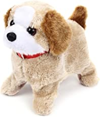 Lalli Sales Fluffy Adorable Jumping Fantastic Puppy | Features Include Barking, Waging Tail, Walking and Jumping | Best for Toddlers and Kids