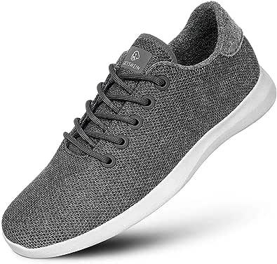GIESSWEIN Merino Wool Knit Men – Sneakers da uomo traspiranti in lana merino 3D elasticizzata, scarpe sportive per il tempo libero, scarpe a piedi nudi