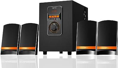 QFX QS Mega 4.1 Multimedia Speaker with USB/Bluetooth/Remote(Black)