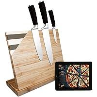 Bloc à couteaux magnétique Dolce Mare avec aimant extra puissant - Planche à couteaux XXL pour vos couteaux de cuisine…