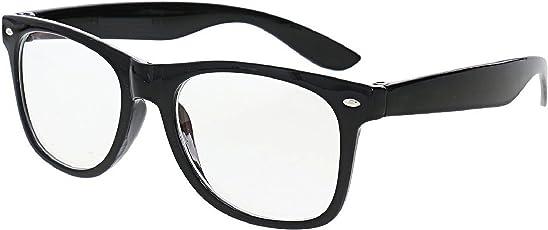 THEWHOOP Full Rim Anti Reflective Wayfarer Unisex Spectacle Frame(002621|54|Black)