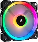 Corsair LL120 RGB Ventola da 120 mm, Dual Light Loop RGB LED PWM, Nero , Confezione Singola