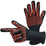 500/800 degree barbecue oven high temperature gloves, heat insulation and anti scalding microwave oven BBQ gloves.