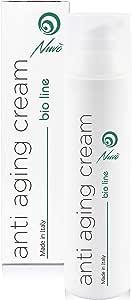 Nuvo' 72% Bava di Lumaca Crema Viso Antirughe BIOLOGICA CERTIFICATA con Acido Ialuronico Olio di Vinaccioli Aloe - Maxi Flacone 75ml Idratante Antiage per Viso collo e Decolletè 100% Made in Italy