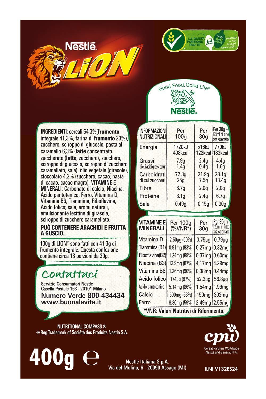 Nestlé Lion Cereali al Cioccolato e Caramello 3 spesavip