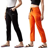 BLINKIN Women's Cotton Solid Pajama (Pack of 2)