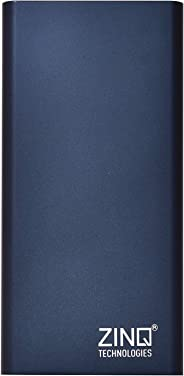 Zinq Technologies Z10KPMQ 10000mAh Lithium Polymer Fast-Charge Power Bank with Dual Output and Type C Input (Blue)