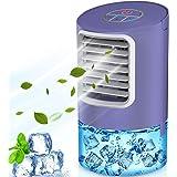 refroidisseur d'air 4 en 1, Climatiseur d'eau de bureau portable de 400 ml, ventilateur de climatiseur silencieux mobile, 18