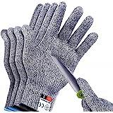 2Pair Sunwuun Cut Resistant Gloves Work Gloves Level 5 Working Safety Glove Man Cut Proof Gloves for Kitchen Butcher Outdoor