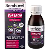Sambucol Natural Black Elderberry for Kids, Vitamin C, Immune Support Supplement , Syrup, 120ml
