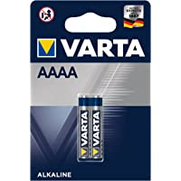 VARTA Batterien Electronics AAAA Alkaline Knopfzelle 2er Pack Knopfzellen in Original 2er Blisterverpackung