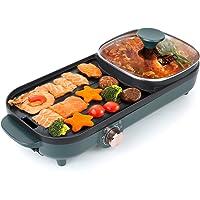 Uten Hot pot griller un pot plateau de cuisson électrique plateau de barbecue friture machine à barbecue ménage…