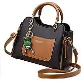 ARURA (LABEL) Versatile Women's Bag Shoulder Messenger Handbag Women (Black)