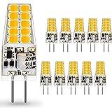 AUTING Bombillas LED G4 de 3.5W, Equivalente a Bombilla Halógena de 30W, 400lm Blanco Cálido 3000K Lámpara LED G4, DC/AC 12V,