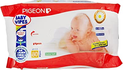 Pigeon Baby Wipes ( Pack of 3 ) ( 80 sheets per pack )