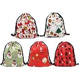 Drawstring Gift Backpack with Drawstring SumDirect 5PCS 33x40cm Mixed Color Large Drawstring Christmas Bags