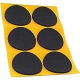 Adsamm ASP-25-SA-BL-70-6-1 ASP-25-SA-BL-70-6 6 x anti-slip pads van EPDM, zwart, rond Ø 70 mm
